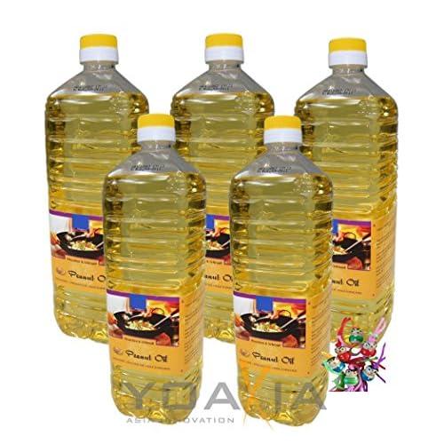 5er Pack 100 Erdnuss L 5x 1000ml Erdnussl Peanut Oil Wok L Ein Kleines Glckspppchen Holzpppchen