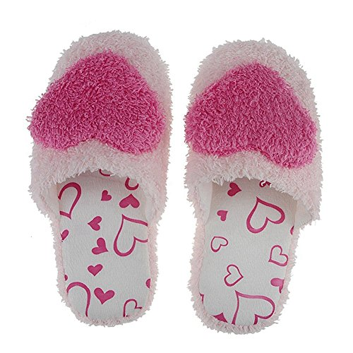 thinkmax-women-bedroom-slippers-non-slip-soft-indoor-slippers-rose-red-us-size-7