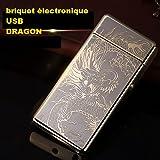 Accendino elettronico USB ricaricabile tramite cavo USB–Dragon Oro
