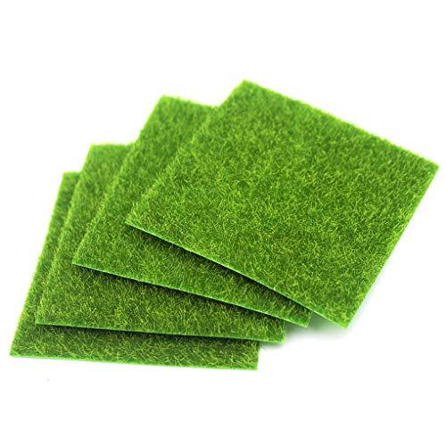 rolin roly 4pcs finta erba verde prato sintetiche micro erba artificial micro landscape grass (4pcs 30 × 30 cm)