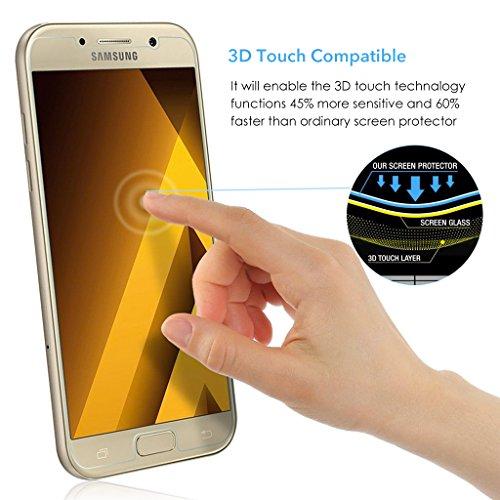 3 Stück Samsung Galaxy A5 Panzerglas, Voroar 9H Härte Schutzfolie Displayschutz / Ultra-klar Displayschutzfolie / Glas Folie gegen Öl und Fingerabdruck Panzerglasfolie - 4