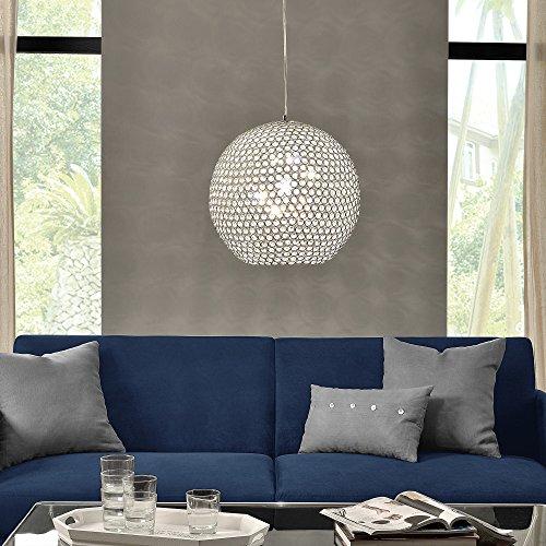 Kugel-Lüster Deckenleuchte / Deckenlampe - Crystal - von [lux.pro]® - Modernes Design: Kron-leuchter aus Aluminium & Kunst-Kristall - Ø 40 cm mit 1 x E14 Sockel - für Wohnzimmer & Schlafzimmer - 2