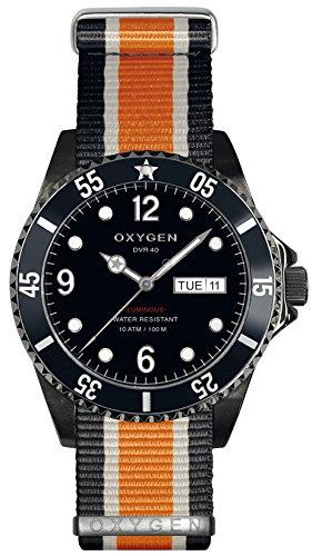 OXYGEN EX-D-MBB-40-NN-BLIVOR Montre bracelet Mixte, Nylon, couleur: multicolore