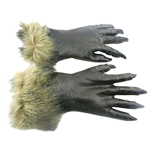 (youpin Wolf Handschuhe, h-019 Awful Werwolf Gesicht Terror Head Sets Halloween Creepy Twisted Tier Kostüm Prop Spielzeug Cosplay Party Masquerade Fancy Kleid für Kinder Erwachsene)