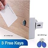 FairOnly Universal Intelligente elektrische Induktion Türschloss ohne Loch batteriebetrieben RFID Schrankschloss Möbelschloss Schubladenschloss mit RFID-Schlüssel