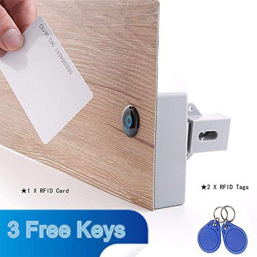 PinShang Universale Intelligente induzione Serratura Senza Foro Elettrico a Batteria RFID Cabinet Lock Furniture Lock cassetto Serratura con Chiave RFID