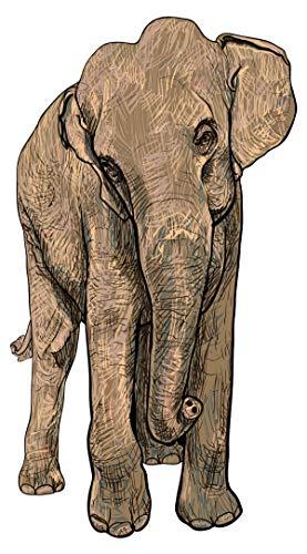 Wandtattoo Wandsticker Großer Elefant Tiermotiv zum Kleben Tiere Wandtattoo Tie