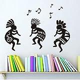 Mhdxmp Kokopelli Música Etiqueta De La Pared Tribu Étnica Personas Celebran Arte Tatuajes De Pared Decoración Para El Hogar 54 * 78 Cm