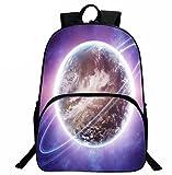 ZHANGOR Drucken Earth Rucksack Outdoor Student Tasche Polyester Freizeit Umhängetasche Computer Tasche Schule Junge Mädchen