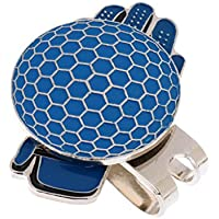 MagiDeal Clip de Sombrero de Golf Diseño de Guante Divertido con Regalo de Golf Marcador Magnético de Bola 3 Colores - Azul