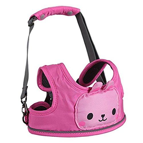 Cavo di sicurezza del bambino - Cartoon Animal Toddler cavo di sicurezza con strisce riflettenti, 3 in 1, della mamma scelta preferita (Rosa Coniglio)