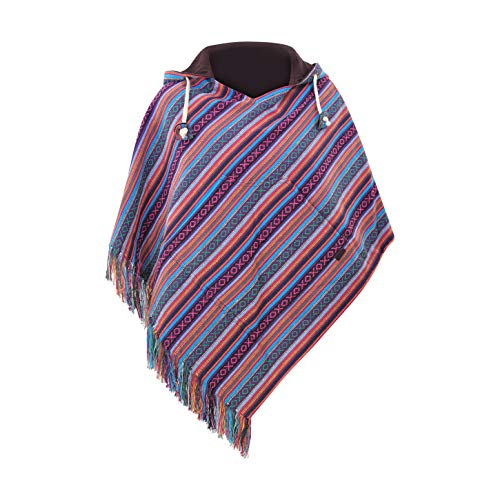virblatt - Poncho Damen Pullover Ethno Baja Sommer Hippie Kleidung Jacke Alternative - Relaxed VIO