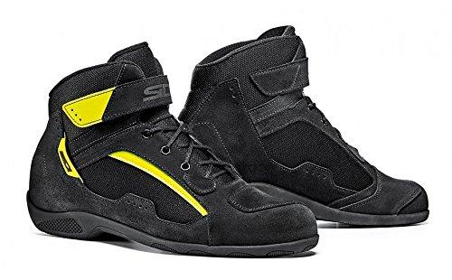 SIDI Scarpa Moto Modello Duna Nero - Giallo Shoes Black Strada Turismo (46, Nero Giallo) NERO - GIALLO