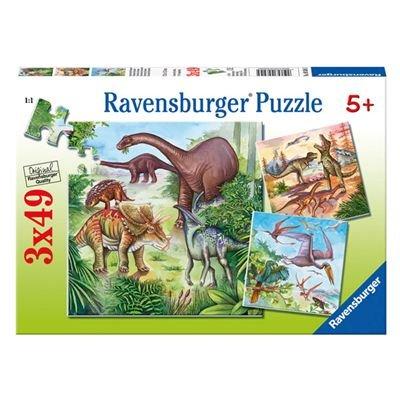 "Ravensburger - Puzzle con diseño de ""dinosaurios"", 3 x 49 piezas (09304 5) por Ravensburger"