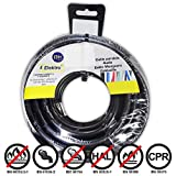 EDM Carrete cablecillo Flexible 4 mm. Negro 50 MTS. Libre-halogeno