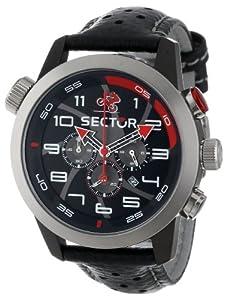Reloj de caballero Sector Urban R3271602125 de cuarzo, correa de piel color negro de Sector