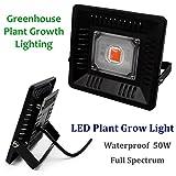 50W Hydroponische Pflanzenwachstum LED Fluter IP65 Wasserdicht Vollspektrum Hocheffizient als