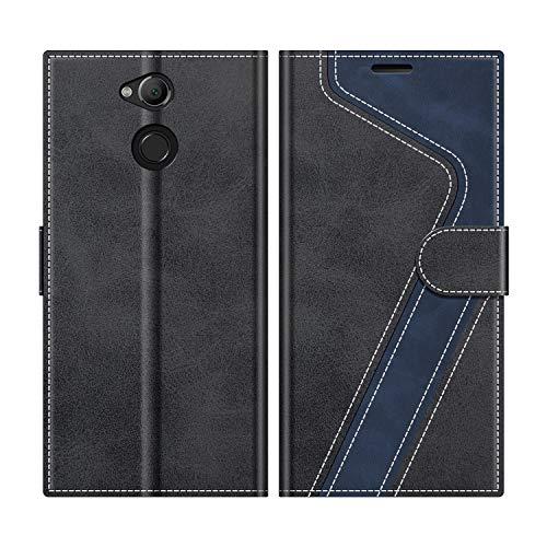 MOBESV Handyhülle für Sony Xperia XA2 Hülle Leder, Sony Xperia XA2 Klapphülle Handytasche Case für Sony Xperia XA2 Handy Hüllen, Modisch Schwarz