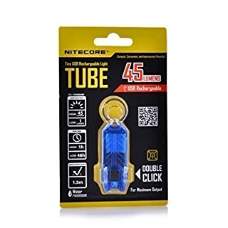 NITECORE Tube Water Resistant Portable Tiny Flashlight USB Rechargeable Light (Blue) by amxfuk
