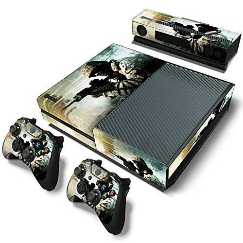GameCheers Xbox One Konsole and 2 Controllers Skin Set - Patriot Soldier Warrior Warfare - XBOX ONE