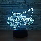 Veilleuse 3D Lampe de Couchage Réservoir Frais 3D Veilleuse Interrupteur Tactile 7 Changement de Couleur LED Lampe de Table USB Veilleuses Décor À La Maison Enfants Jouet Cadeau