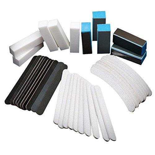 Nagel Set,Jaminy 40PCS Nail Kunst Schleiffeilen Puffer Block Maniküre Tools Pediküre UV-Gel-Set (Pediküre-puffer)
