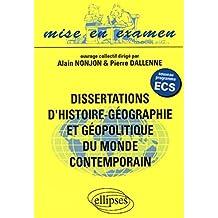 Dissertations d'histoire-géographie et géopolitique du monde contemporain