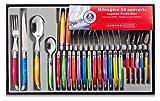 Laguiole Production 438580 - Servizio di posate da 24 pezzi in acciaio INOX, colore: Multicolore