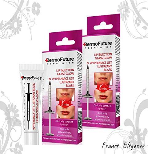 Tenex DermoFuture 2 x DermoFuture Precision Lip Filler Enlarging Glass Glow (Tenex) Dermo Future