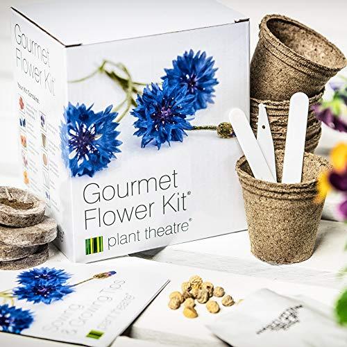 Gourmetblumen-Kit von Plant Theatre - 6 Essbare Blumenarten zum Anbauen ? ein großartiges Geschenk