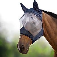 Harrison Howard CareMaster Máscara Anti-moscas Protección Con Orejas Negro/Plata (L; Full Size)