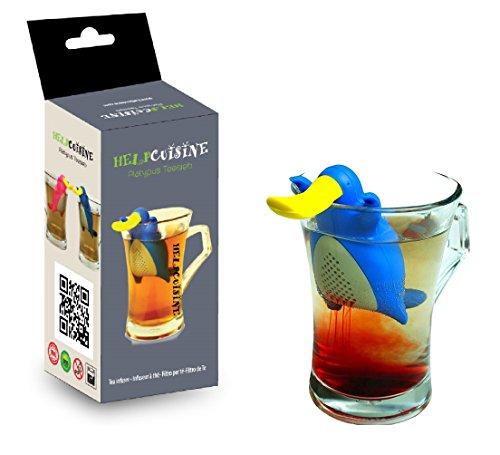 HelpCuisine ® 1St. teesieb teefilter teekugel in der Form eines Schnabeltiers.
