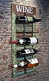 Livitat Wandregal Wein Weinregal Flaschenregal Shabby Chic Vintage LV5012
