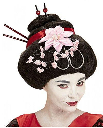 Horror-Shop Elegante Geisha Japanerin Perücke für Karneval, Fasching -