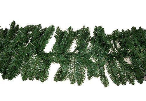 Clever Creations - Ghirlanda Stile Ramo di Pino Realistico - Decorazione Natalizia per Esterni e Interni - con Corpo modellabile - Verde - 274 cm