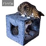 Katzenhöhle fürs Regal von PetPäl | Design Kuschelhöhle für den Schrank Inklusive Kissen | Für Den Wohligen Katzen Schlafplatz | Ideal für IKEA Kallax | DER Traum Einer Jeden Katze