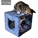 PetPäl Katzenhöhle für Regal | Design Katzen Kuschelhöhle Inklusive Kissen | Für Den Wohligen Schlafplatz Deiner Katze | Ideales Katzenbett für Regale wie IKEA Kallax & Expedit | Perfekter Rückzugsort für die Katze zum Schlafen & Verstecken