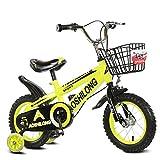 Guo shop- Bicicleta del doblez del niño 3-6-8 años Cochecito de bebé 12 pulgadas 14 pulgadas 16 pulgadas Bicicleta de 18 pulgadas bicicletas para niños ( Color : Amarillo , Tamaño : 16Inch )