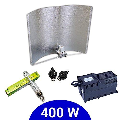 Agrolite Kit d'éclairage avec ballast classe 2 et réflecteur Adjust-a-Wings Enforcer 400 W SHP