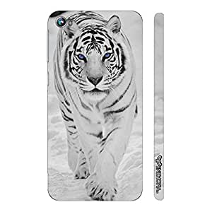 Micromax Canvas Fire 4 A107 THE TIGER POWER WALK designer mobile hard shell case by Enthopia