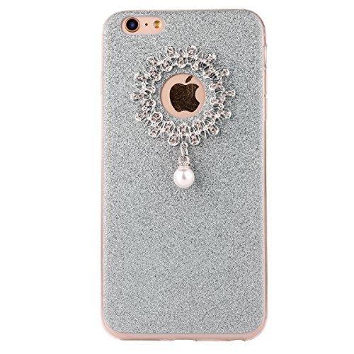 """iPhone 6s Hülle, iPhone 6 Handytasche, CLTPY Ultradünn Weich TPU Schutzfall Shinning Glitzer Kristall Schale Etui für 4.7"""" Apple iPhone 6/6s + 1 x Stift - Rosa Blau 2"""