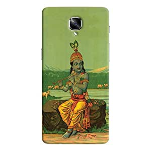 ColourCrust OnePlus 3 Mobile Phone Back Cover With Vintage Krishna Poster - Durable Matte Finish Hard Plastic Slim Case