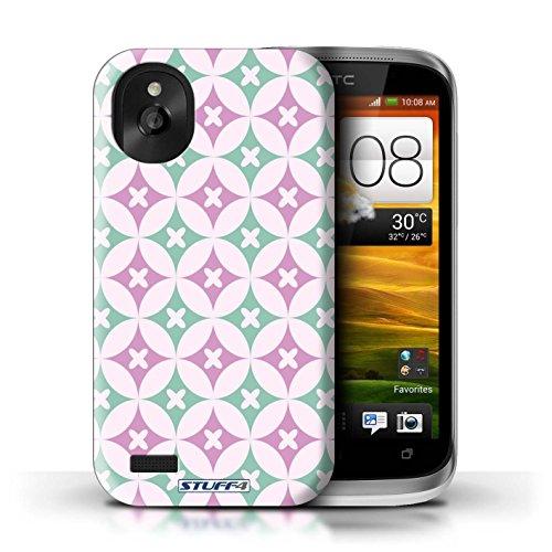 Kobalt® Imprimé Etui / Coque pour HTC Desire X / Rose/Bleue conception / Série Kaléidoscope Rose vive / vert