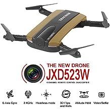 Drone Togather Faltbar Taschendrohne RC Quadcopter Drone con cámara HD WIFI FPV Altitud Función(Oro)