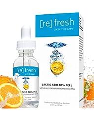 Milchsäure 10% Gel Chemisches Peeling fur Gesicht Profiheimbehandlung - Aufheller Haut Anti-Aging aus Soja Natürlich Gewonnen 30ml