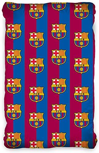 Spannbettlaken FC Barcelona 90/100cm x 190/200cm Bordeaux Blau 100% Baumwolle Fussball Fan Messi Primera Division Fan Stadion Camp Nou Spannlaken Bettlaken Laken Spannbetttuch passend zur Bettwäsche