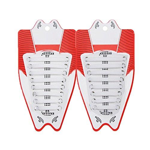 Silicone lacci per scarpe elastici adulti e bambini shoelaces, accessori per scarpe sportive, 16 pezzi impermeabile no tie lacci elastici per triathlon, sportive, corridori, sneaker piatto laces kootk