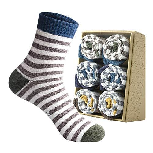WYYUE Herren 100% Reine Baumwolle Gerippte Socken - Männer Bambusfaser Klassisches Geschäft Deodorant Kleid Antibakteriell - 5 Paare - alle Jahreszeiten (Gerippte Kleid Socken)