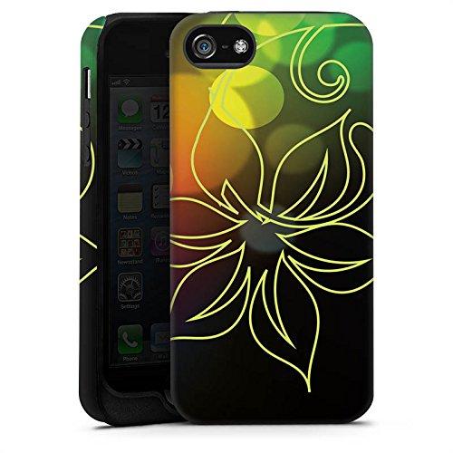 Apple iPhone X Silikon Hülle Case Schutzhülle Blumen Licht Bunt Tough Case matt