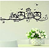 Cartoon-Eulen-Schmetterlings-Wand-Aufkleber-Dekor-Abziehbild